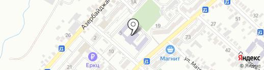 Гимназия №19 на карте Кисловодска