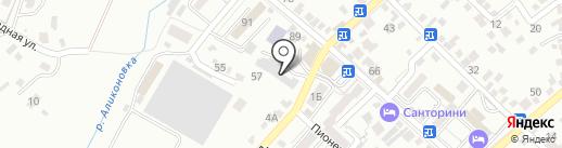 Автостоянка на карте Кисловодска