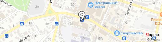 Гейша на карте Кисловодска