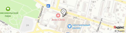 Магазин одежды на карте Кисловодска