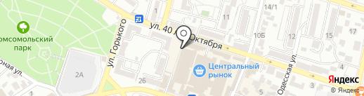 Бамия на карте Кисловодска