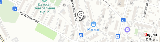 Пеликан на карте Кисловодска