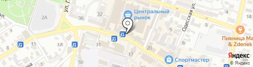 Магазин посуды на карте Кисловодска