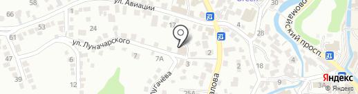 Кубань на карте Кисловодска
