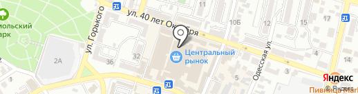 Zebra на карте Кисловодска
