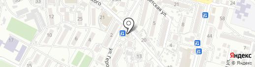 Канцтовары на квадрате на карте Кисловодска