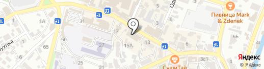 Драгоценности Урала на карте Кисловодска