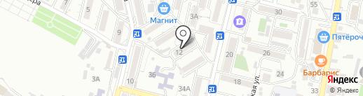 На Водах на карте Кисловодска