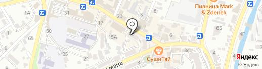Аделина на карте Кисловодска