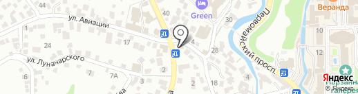 Берекет на карте Кисловодска
