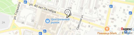 Дубки на карте Кисловодска