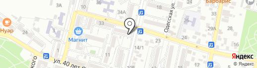 Пламя на карте Кисловодска