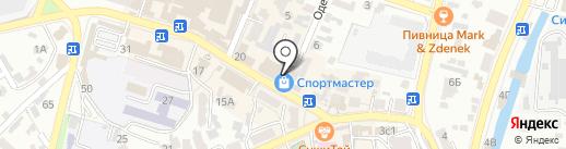 Кристалл на карте Кисловодска