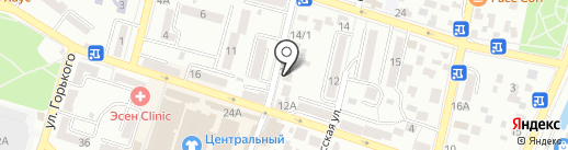 Зима Летто на карте Кисловодска