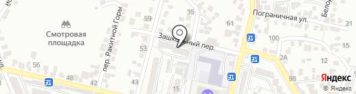 Морозко на карте Кисловодска