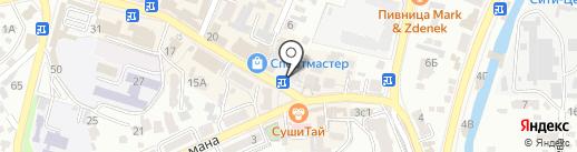 КРАСОТКА на карте Кисловодска