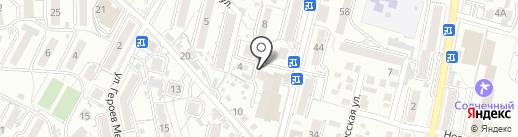 Арт-лайн на карте Кисловодска