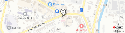 Агентство недвижимости Инны Ивановой на карте Кисловодска
