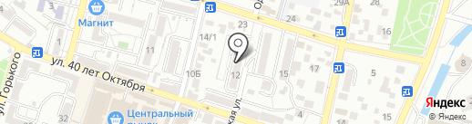 Кадастровая палата на карте Кисловодска
