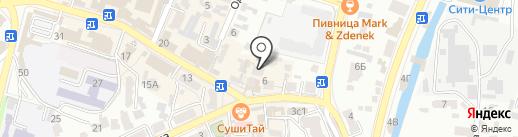 Принт-98 на карте Кисловодска