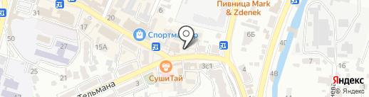 Вишневская А.П. на карте Кисловодска