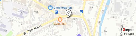 Молодёжка на карте Кисловодска