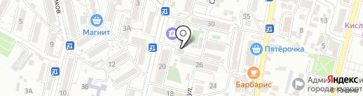 Каспий на карте Кисловодска