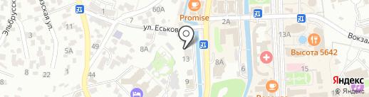 Ставропольский кооперативный техникум экономики, коммерции и права на карте Кисловодска