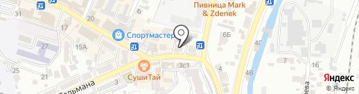 Кавминкурортресурсы на карте Кисловодска