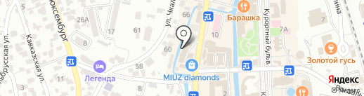 Спорттовары на карте Кисловодска