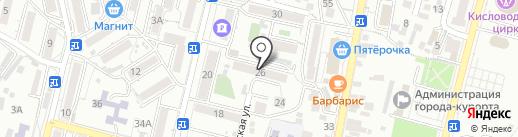 Управление труда и социальной защиты населения на карте Кисловодска