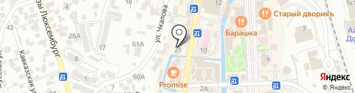 ОперПринт на карте Кисловодска