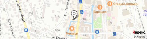 Мир часов на карте Кисловодска