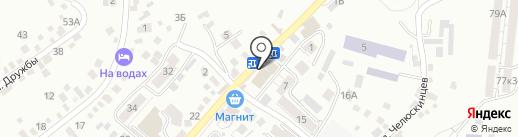 Карандаш на карте Кисловодска