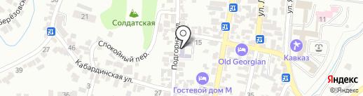 Средняя общеобразовательная школа №10 на карте Кисловодска