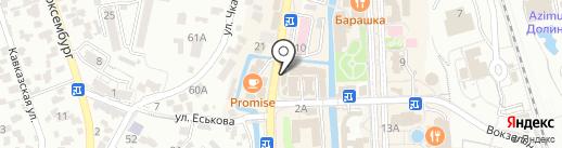 Банкомат, Газпромбанк на карте Кисловодска