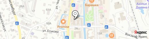 Шарм на карте Кисловодска