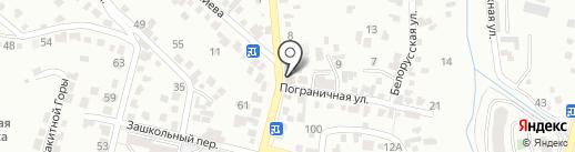 Горница на карте Кисловодска