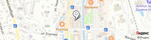 Викинг на карте Кисловодска