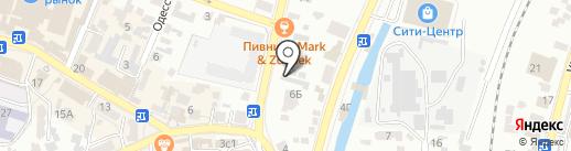 Противотуберкулезный диспансер на карте Кисловодска
