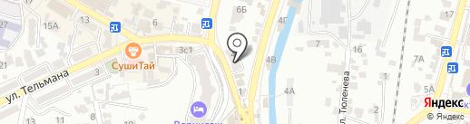 Рема на карте Кисловодска