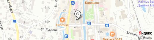 Цифроград на карте Кисловодска