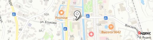 Кавказская пленница на карте Кисловодска