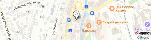 Банкомат, Московский индустриальный банк на карте Кисловодска