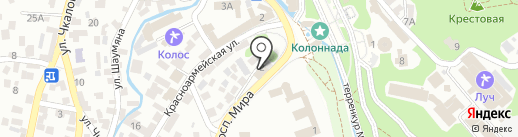 Раздолье на карте Кисловодска