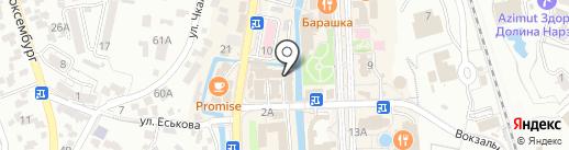 Магазин нижнего белья на карте Кисловодска