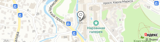 Травы Кавказа на карте Кисловодска