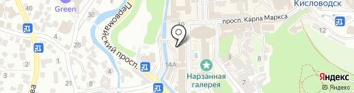 Погребок на карте Кисловодска