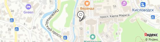 Кавказский горный клуб на карте Кисловодска