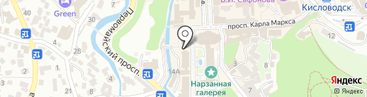Курортный на карте Кисловодска